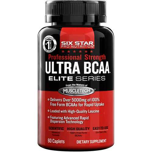 Six Star Pro Nutrition Elite Series Professional Strength Ultra BCAA Caplets, 60ct