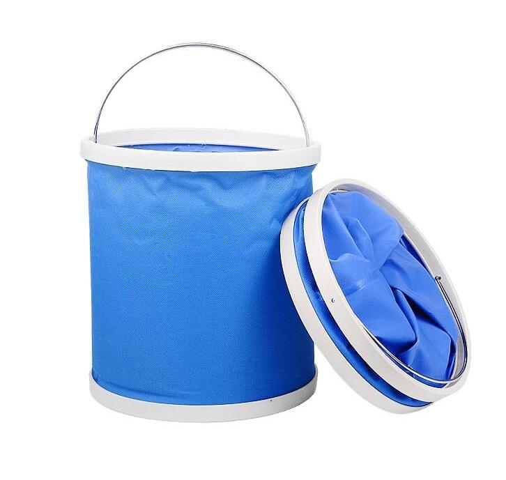Outdoor folding bucket Coating Bucket Folding Bucket Portable Camping Hiking Fishing Bucket Fishing Tackle Tools For Washing Car