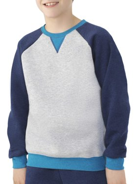 Fruit of the Loom Boys 4-18 Fleece Raglan Crew Neck Sweatshirt