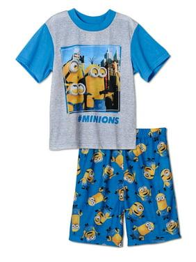 Despicable Me Boys #Minions Pajamas T-Shirt & Shorts Set 4