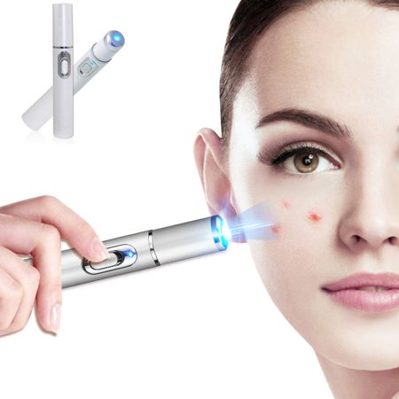 Blue Light Therapy Laser Treatment Pen Acne Scar Wrinkle Remover,Home Use Blu Ray Acne Remover Pen Winter Blues Light Therapy