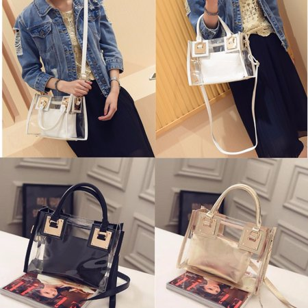 Transparent Gelly Crystal Fashion Bag Celeb Tote Designer Style Shoulder Handbag