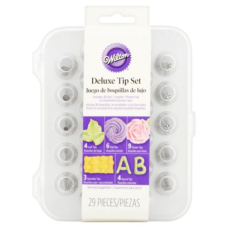 Wilton Deluxe Decorating Tip Set, 29-Piece