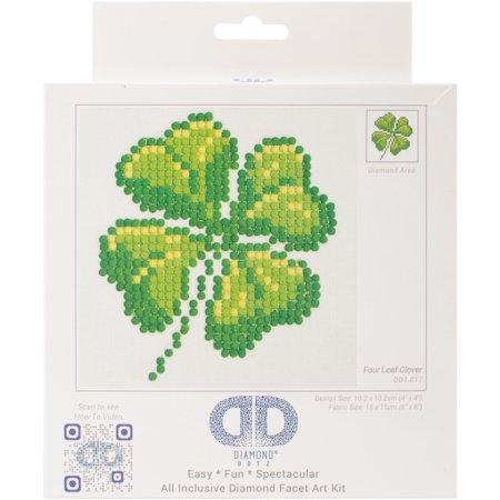 "Diamond Dotz Diamond Embroidery Facet Art Kit 6""X6""-Four Leaf Clover - image 1 de 1"