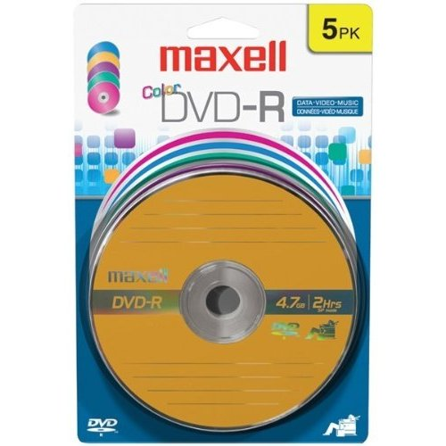 Maxell 16x Dvd-r Media - 4.7gb - 120mm Standard - 5 Pack Blister Pack (638033)