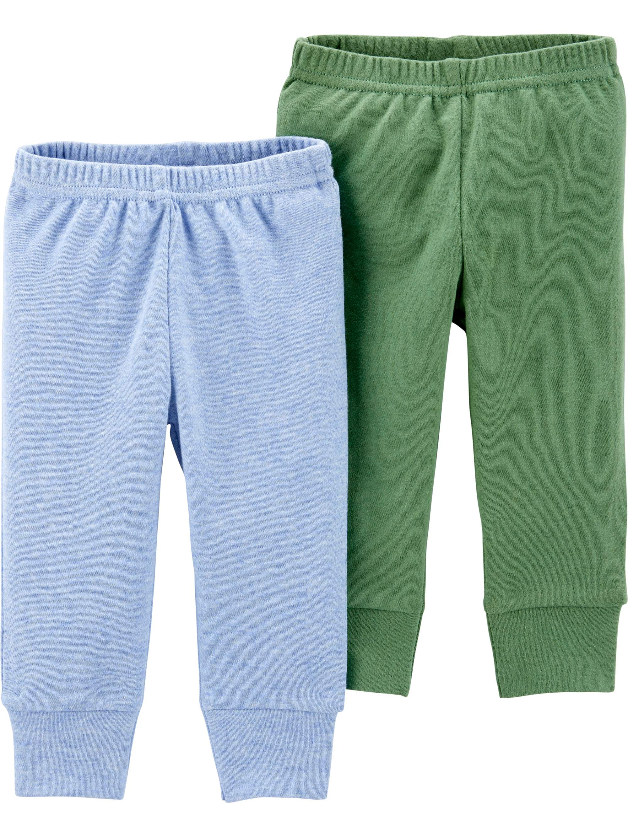 3 Months Carters Baby Boys or Girls Track Pants Navy with Green