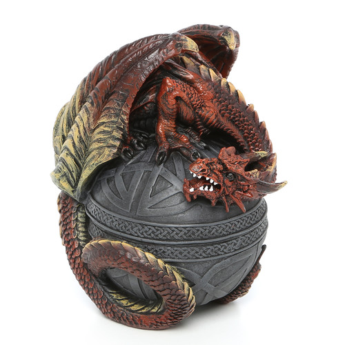 Design Toscano Dragon Protector of the Celtic Orb Sculptural Box