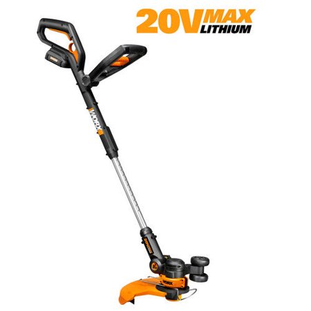 Worx Wg160 20V Cordless Lithium Ion 12 In  Straight Shaft Trimmer   Edger