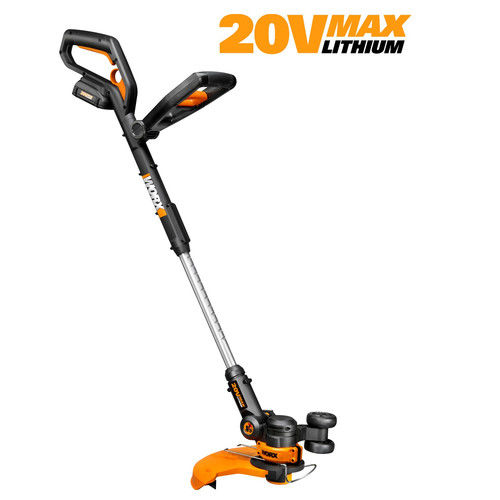 Worx WG160 20V Cordless Lithium-Ion 12 in. Straight Shaft Trimmer / Edger