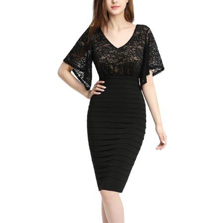 da68a8082aa phistic - PHISTIC Women s Plus Size Flutter Sleeve Lace Sheath Dress -  Walmart.com