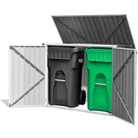 Costway 6x3FT Horizontal Storage Shed 68 Cubic Feet for Garbage Cans Tools Accessories
