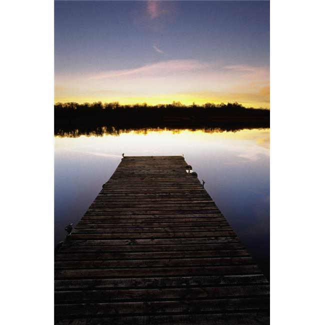 Posterazzi DPI1829278 Dock At Sunset Poster Print by Gareth McCormack, 12 x 18 - image 1 de 1