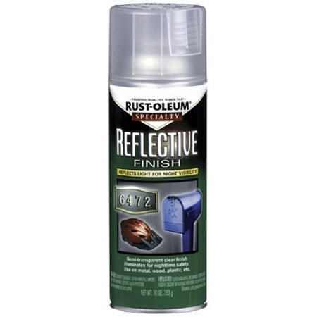 SPECIALTY 214944 Reflect. Coating Spray Paint, Clear, 10
