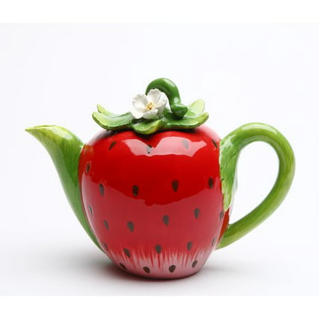Cosmos Gifts Strawberry 0.38-qt. Teapot