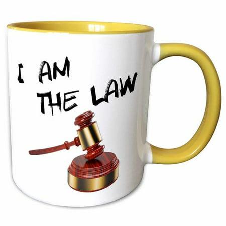 Symple Stuff Coweta I am the Law Judge Gavel with Sound Block Coffee - Judges Gavel