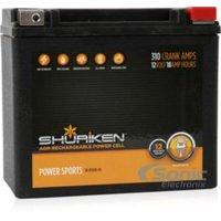Shuriken Sk-btx20l-bs 310 Crank Amps 18ah Agm Powersports 12-volt Battery