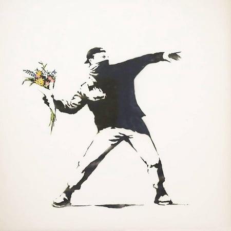 Love Is in the Air Urban Graffiti Art Print Wall Art By (Air Art Print)