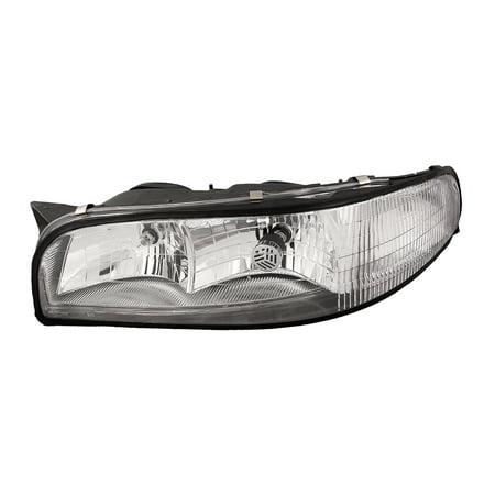 1997-1999 Buick LeSabre Headlight Halogen Driver Left Headlamp Assembly GM2502159 & (Buick Lesabre Headlight Switch)
