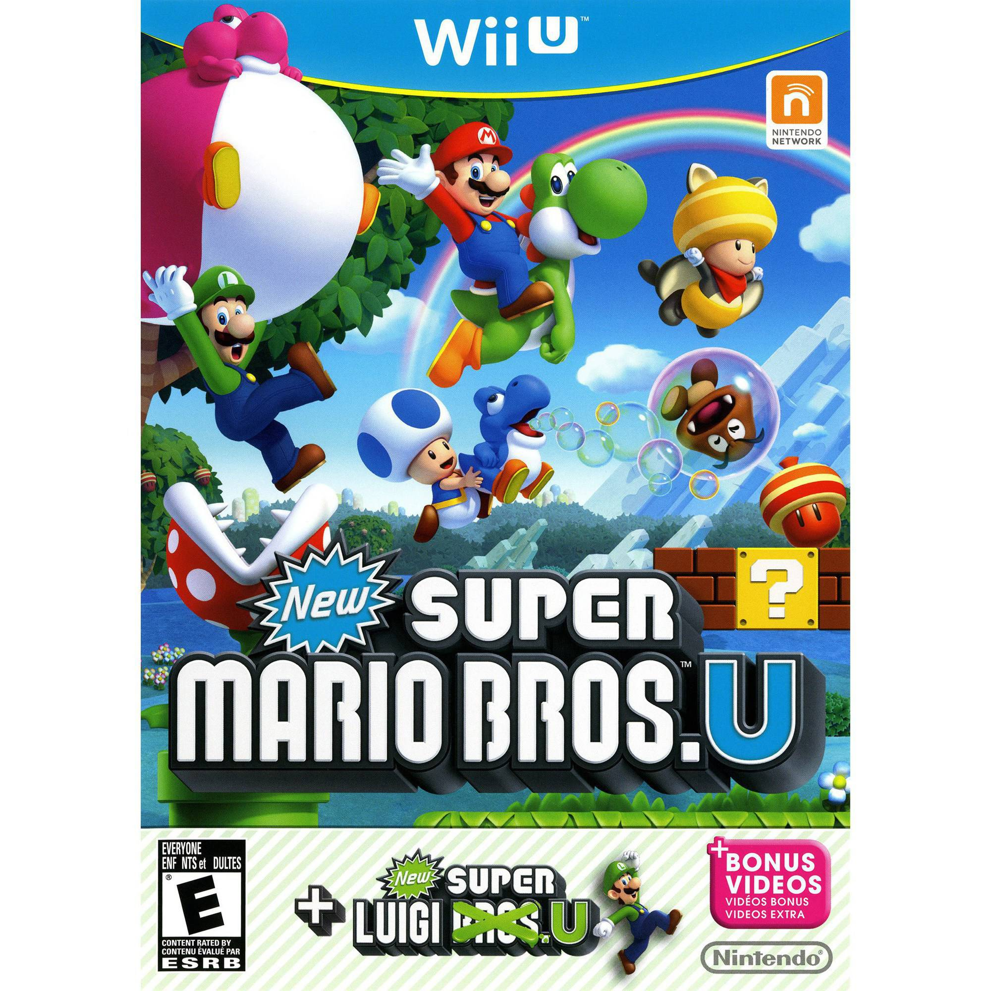 New Super Mario Bros U + New Super Luigi U, Nintendo, Nintendo Wii U, 045496903749
