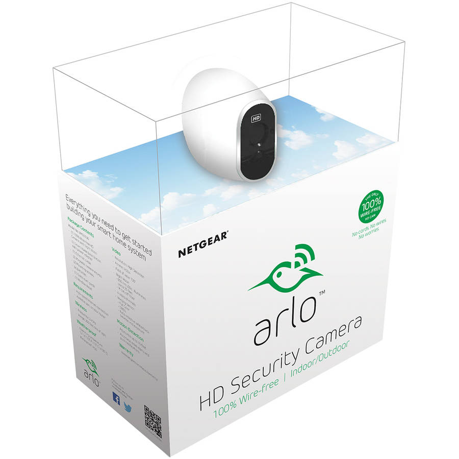 Arlo HD Security Camera - 1 HD Camera Security System, 100% Wire-Free, Indoor/Outdoor Cameras with Night Vision (VMS3230)
