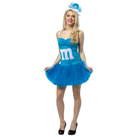 Adult M&MS Blue Party Dress Costume by Rasta Imposta 3931 - Party Store Jackson Ms
