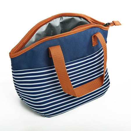 Fit & Fresh 2707KFF622WEB Samantha Insulated Lunch Bag - Navy Nautical Stripe ()