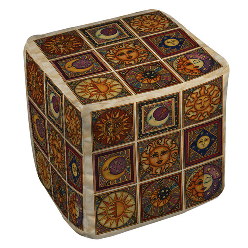 Manual Woodworkers & Weavers Celestial Squares Pouf