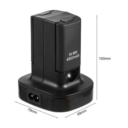 Charging Station Charger Dock+2X 4800mAh Rechargeable Battery for Xbox 360 - image 5 de 10