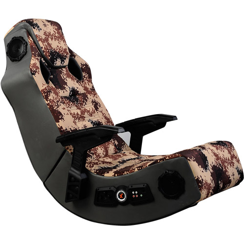 X Rocker Wireless 4-Speaker Pro Series Video Rocker Gaming Chair, Camouflage