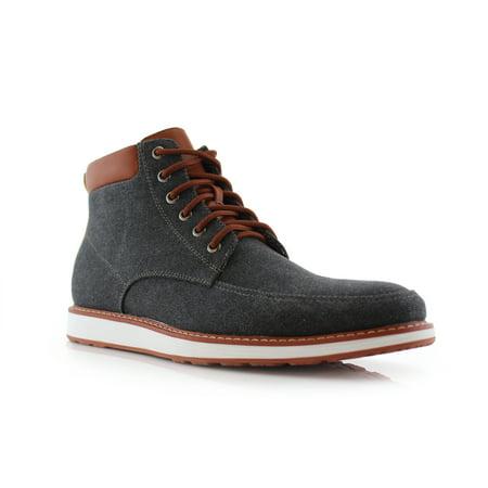 Ferro Aldo Melvin MFA506026 Black Color Men's Casual Mid Top Shoes For Daily