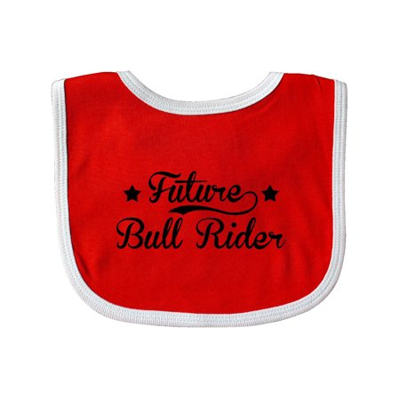 Future Bull Rider Baby Bib Red White One Size