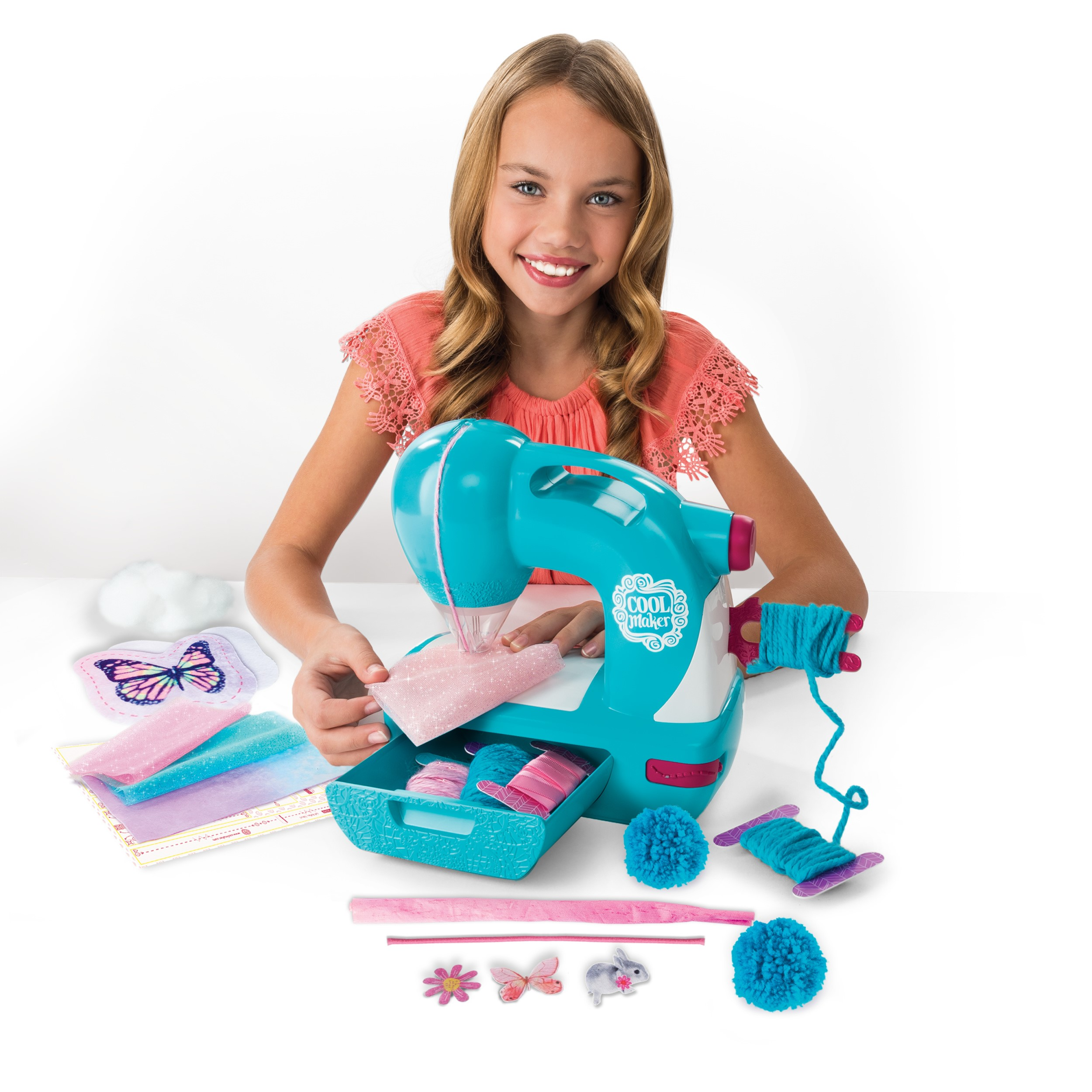 Cool Maker Sew N' Style Kids Sewing Machine with Pom Pom Maker Attachment (Edition May Vary)