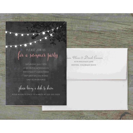 Summer Lights Deluxe Party Invites - Graduation Party Invites