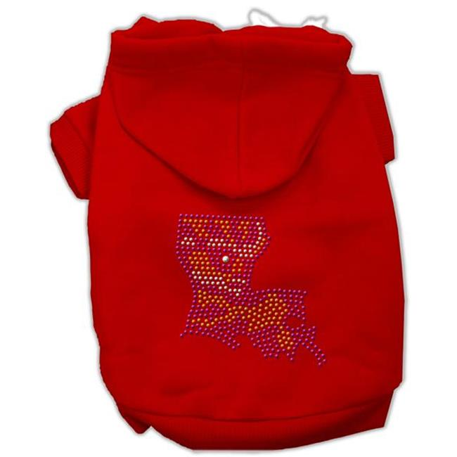 Louisiana Rhinestone Hoodie Red Xxxl(20) - image 1 of 1