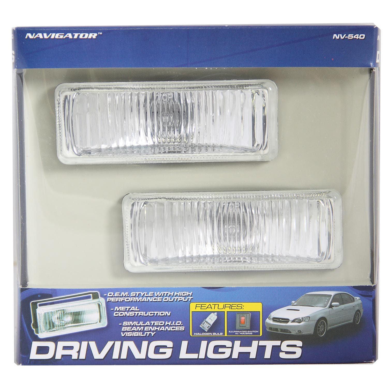 """Pilot Automotive Rectangular Driving Light Kit 5/"""" x 1-7//8/"""" ~ New"""