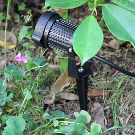 6W 12V AC DC IP65 Black Aluminum LED Lawn Spot Light Lamp High Power RGB Warm/Nature White Outdoor Pond Garden Path CE RoHs ()