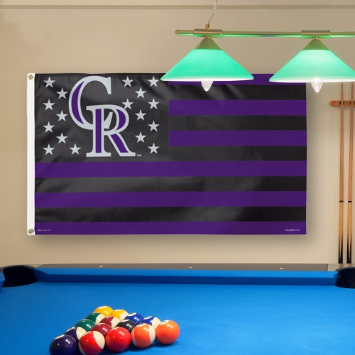 Colorado Rockies WinCraft Deluxe Stars & Stripes 3' x 5' Flag - No Size