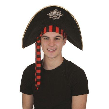 Pirate Bucanneer Captain Skull Hat with Headband Scarf Costume Accessory (Pirate Headband)