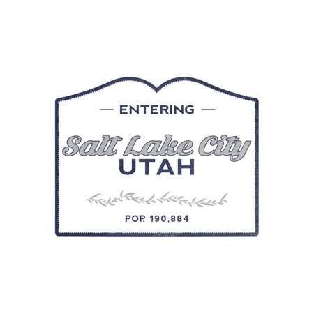 Salt Lake City, Utah - Now Entering (Blue) Print Wall Art By Lantern Press](Salt Lake City Halloween Party)