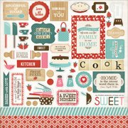 "Home Sweet Home Cardstock Stickers 12""X12""-Elements"