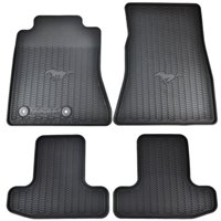 OEM Factory Stock 2015 2016 Black Ford Mustang Pony Horse All Weather Vinyl Floor Mats Front & Rear