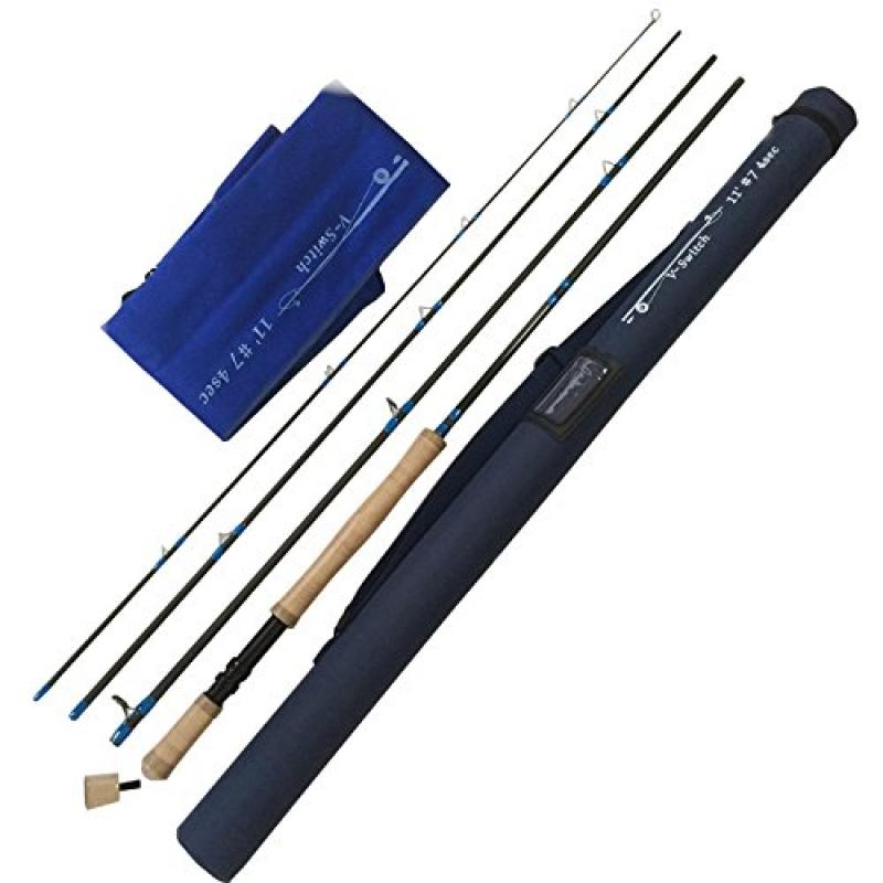 river peak Fly rod swhich 11ft #7 carbon rod 4pcs with case