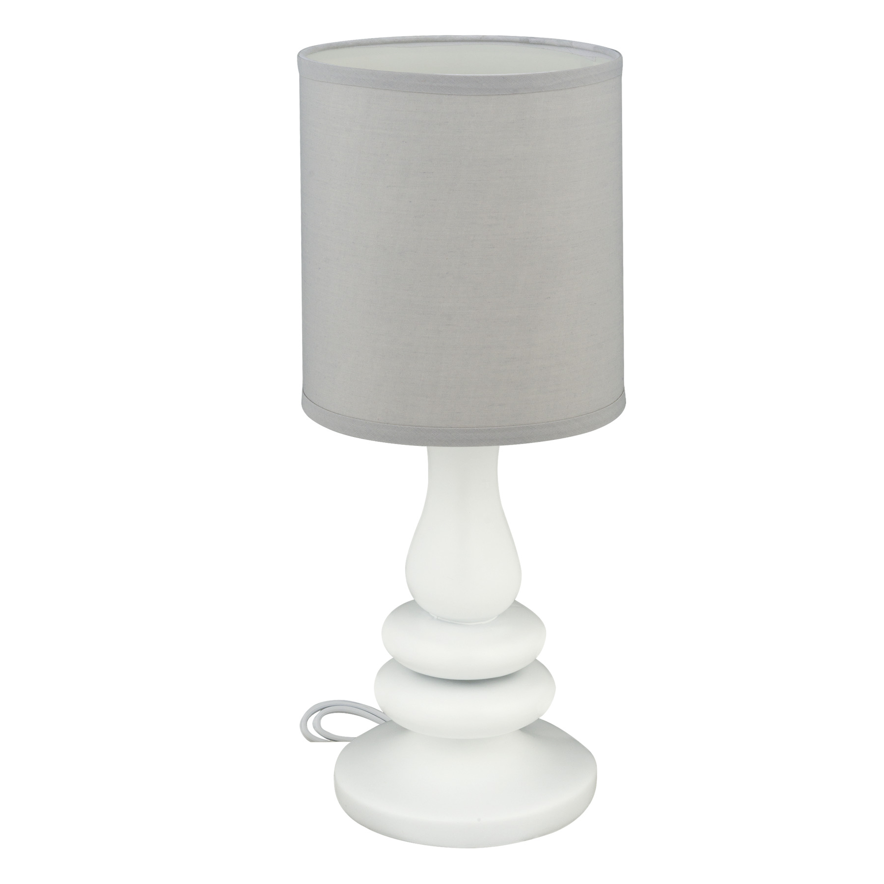 Little Love Lamp White Resin  Grey Shade, 1.0 CT by Little Love by NoJo