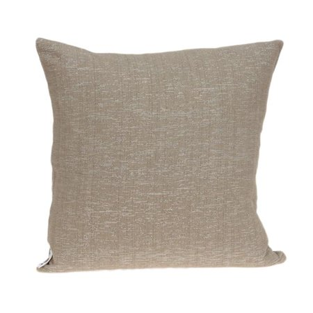 Parkland Collection PILD11155P Damon Tan & Silver Square Transitional Pillow Cover with Poly Insert - 20 x 20 x 7 in. - image 1 of 1