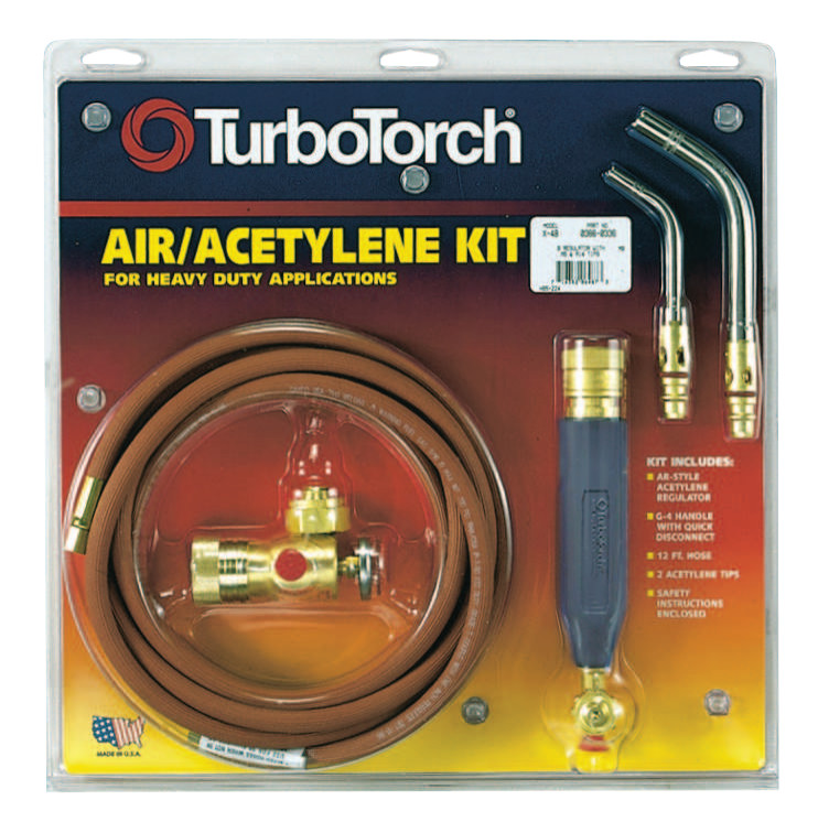 TurboTorch Torch Kit Swirls, Acetylene, X-3B, B Tank