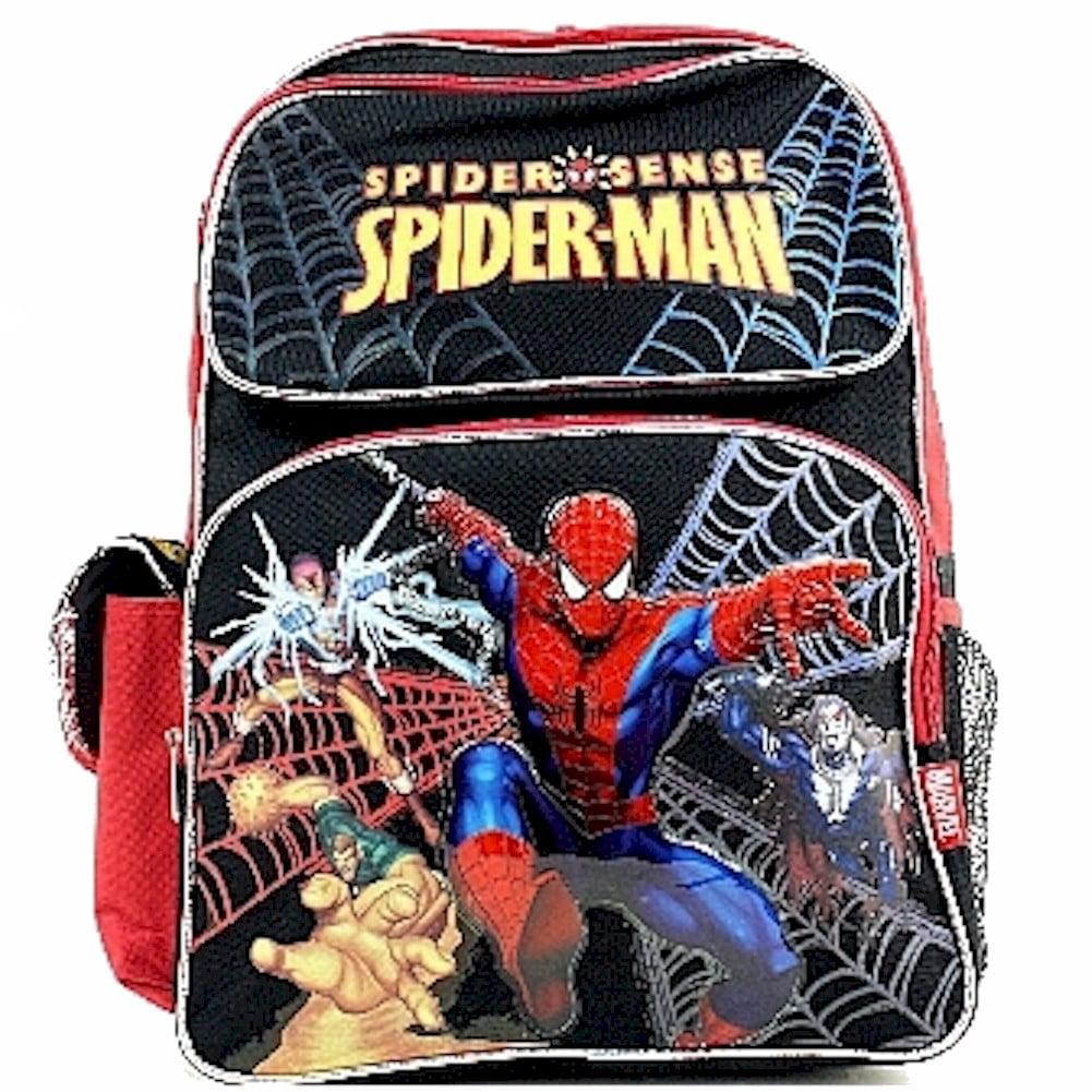 Marvel Spider-Man Boy's Spider Sense Black/Red Backpack School Bag 79463