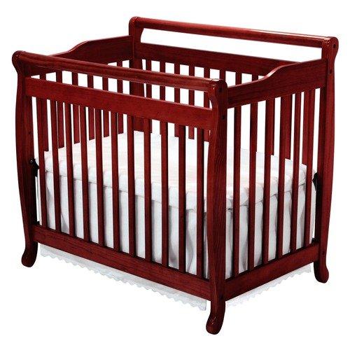 DaVinci Emily Mini 2-in-1 Convertible Crib in Cherry