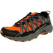 Fila Men's Headway 4 Shocking Orange/Pewter/Atomic Blue Ankle-High Synthetic Fashion Sneaker - 9.5M