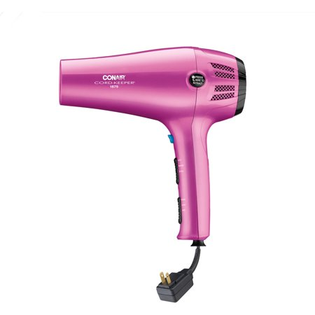 Conair 1875 Watt Cord-Keeper Hair Dryer with Ionic Conditioning, (Conair 1875 Watt Hair Dryer Black Model 225r)