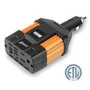 ampeak 100w power inverter dc 12v to 110v ac inverter car charger an ac outlet 2.1a usb car converter